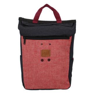 Stylový černo růžový látkový batoh - New Rebels Javan černá