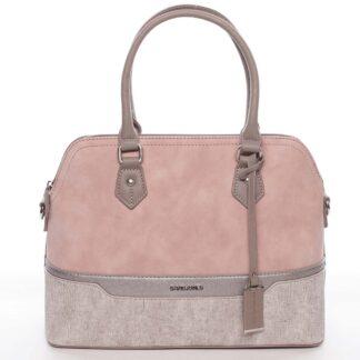 Větší originální a stylová růžová dámská kabelka - David Jones Valerie růžová