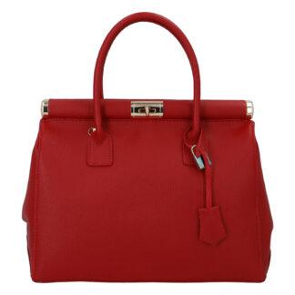 Módní originální dámská kožená kabelka do ruky červená - ItalY Hila červená