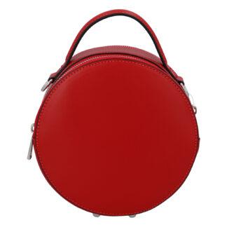Malá červená elegantní dámská kožená kabelka - ItalY Husna červená