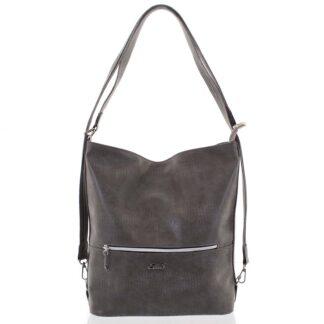 Módní dámská kabelka batoh šedá se vzorem - Ellis Patrik šedá