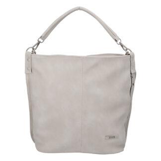 Elegantní dámská kabelka přes rameno krémově šedá - Ellis Negina šedá