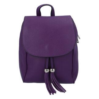 Dámský kožený batůžek tmavě fialový - ItalY Joseph fialová