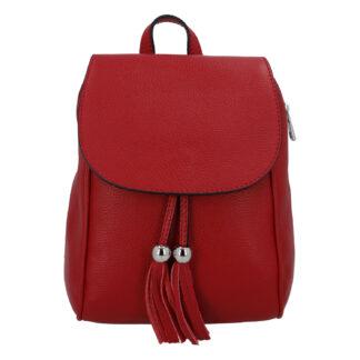 Dámský kožený batůžek tmavě červený - ItalY Joseph červená