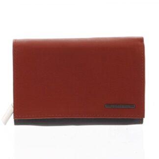 Dámská kožená peněženka černo červená - Bellugio Averi černá