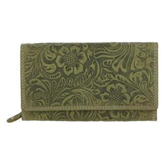 Dámská kožená peněženka zelená - Tomas Imbali zelená