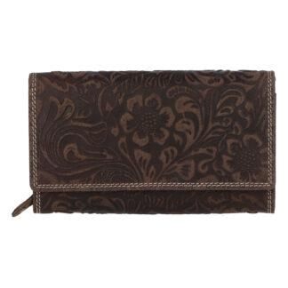 Dámská kožená peněženka tmavě hnědá - Tomas Imbali hnědá