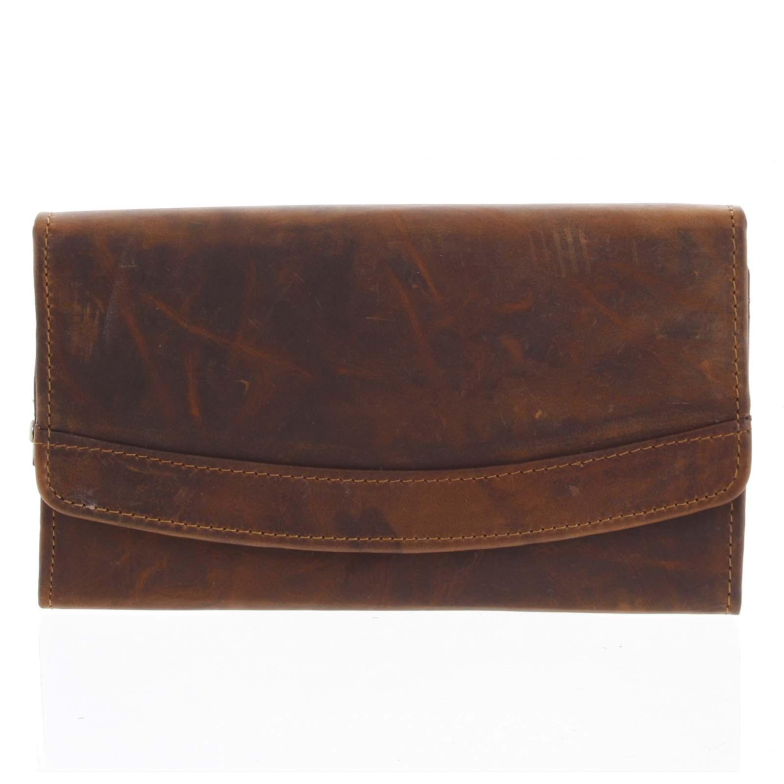 Dámská kožená peněženka hnědá - Tomas Slat hnědá