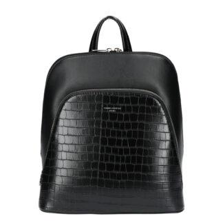 Dámský městský batoh černý - David Jones Yordan Kroko černá