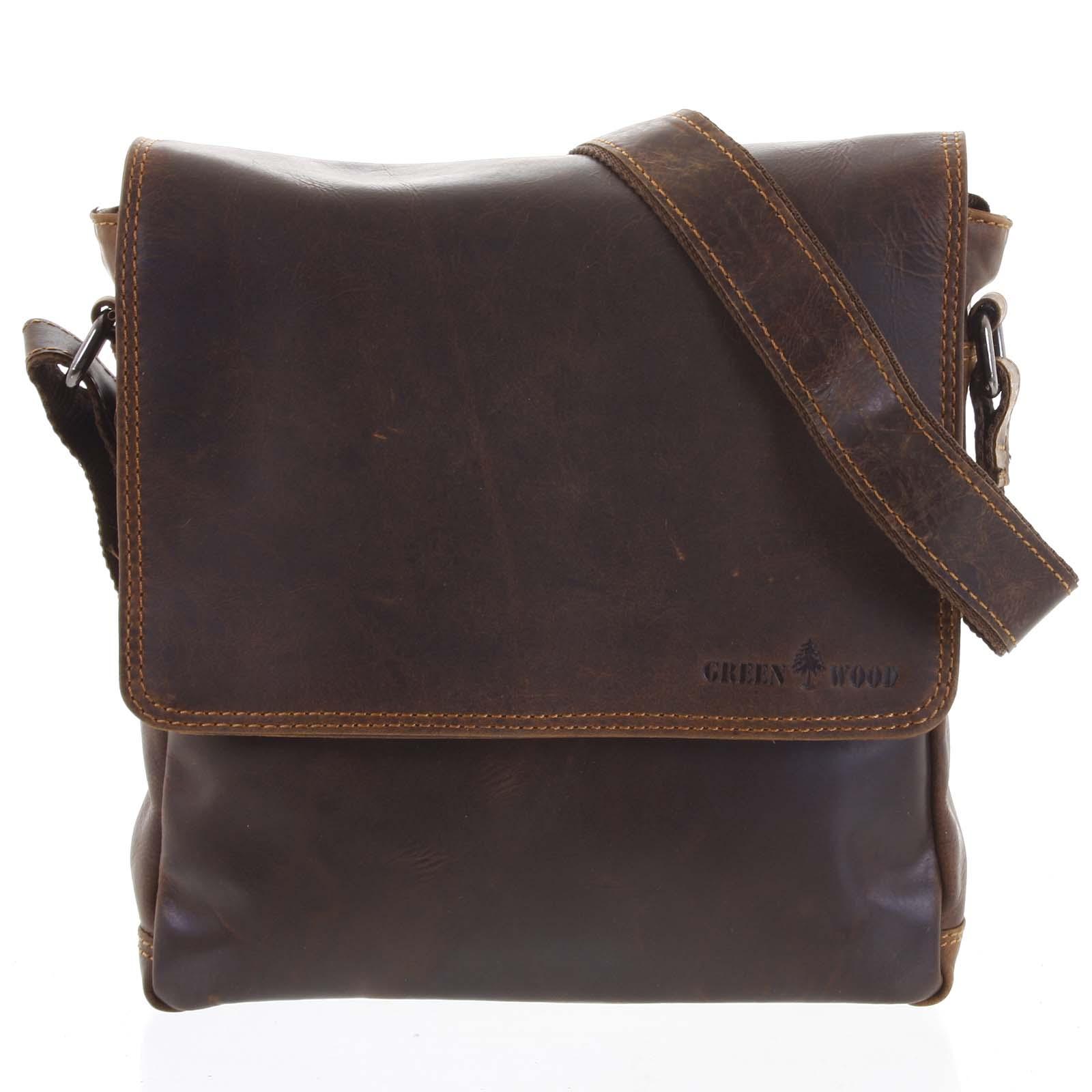 Pánská kožená taška přes rameno hnědá - Greenwood Stranger hnědá