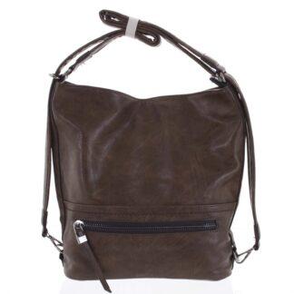 Dámská kabelka batoh kávově hnědá - Romina Nikka hnědá