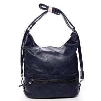 Dámská kabelka batoh tmavě modrá - Romina Nikka modrá