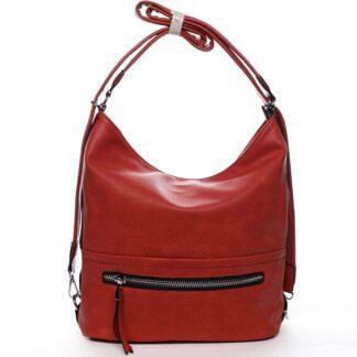 Dámská kabelka batoh červená - Romina Nikka červená