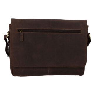 Pánská kožená taška hnědá - Tomas Woodoo Two hnědá