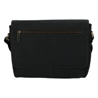 Pánská kožená taška černá - Tomas Woodoo Two černá