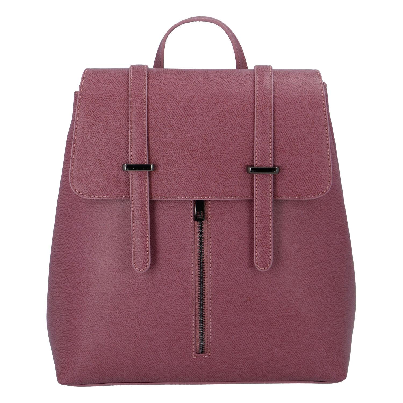 Dámský kožený batoh fialově růžový - ItalY Waterfall růžová