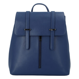 Dámský kožený batoh tmavě modrý - ItalY Waterfall tmavě modrá