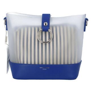 Originální dámská crossbody kabelka modrá - David Jones Crazy modrá