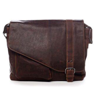 Pánská kožená taška přes rameno hnědá - Greenwood Castler hnědá
