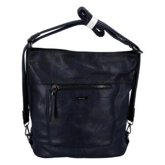 Dámská kabelka batoh tmavě modrá - Romina Wamma tmavě modrá