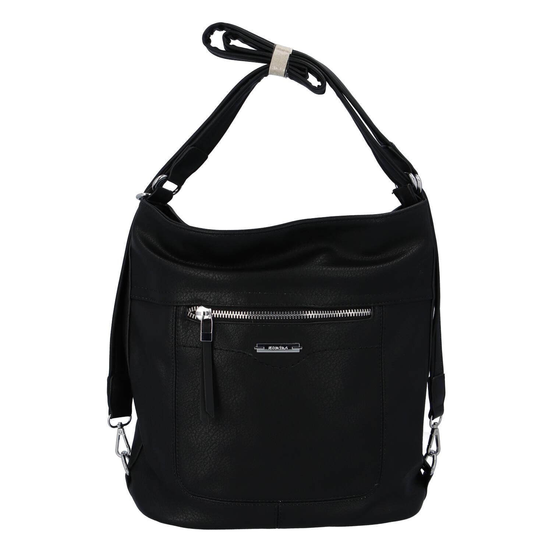 Dámská kabelka batoh černá - Romina Wamma černá