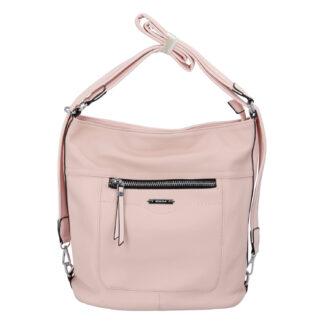 Dámská kabelka batoh světle růžová - Romina Wamma růžová
