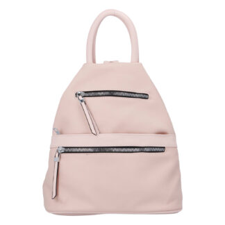 Originální dámský batoh kabelka světle růžový - Romina Gempela růžová
