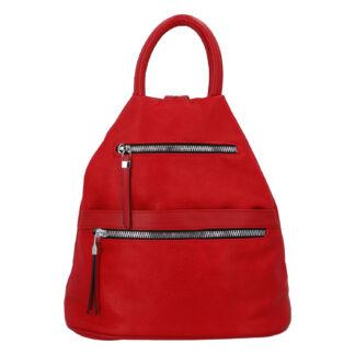 Originální dámský batoh kabelka červený - Romina Gempela červená