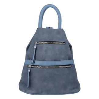 Originální dámský batoh kabelka modrý - Romina Gempela modrá