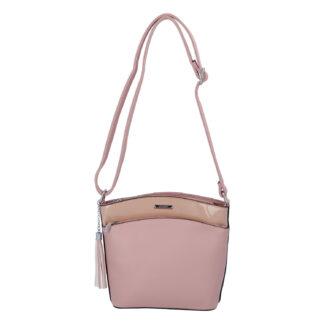 Dámská crossbody kabelka růžová - Silvia Rosa Barbie růžová