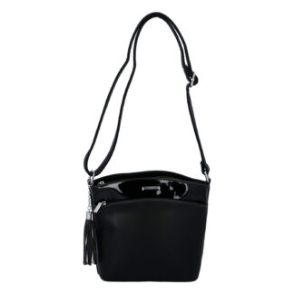 Dámská crossbody kabelka černá - Silvia Rosa Barbie černá