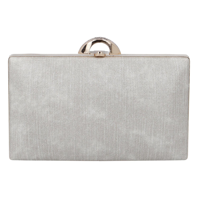 Luxusní dámské psaníčko stříbrně zlaté - Michelle Moon DaPirre zlatá