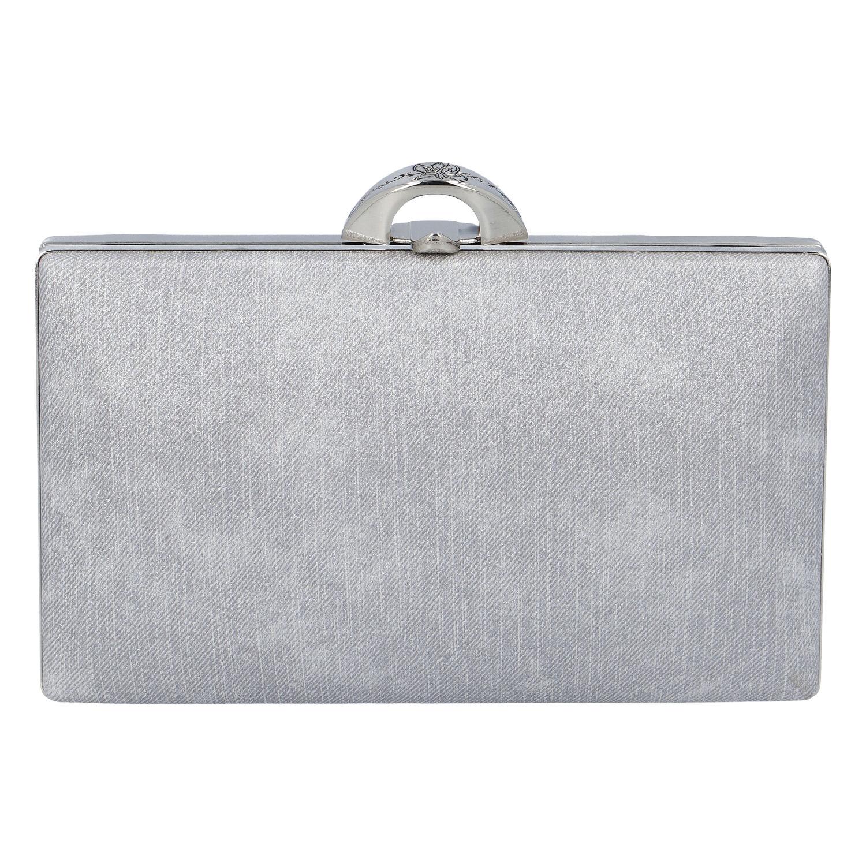 Luxusní dámské psaníčko stříbrné - Michelle Moon DaPirre stříbrná