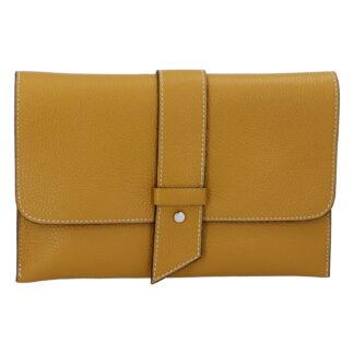 Luxusní dámská kabelka tmavě žlutá - ItalY Brother žlutá
