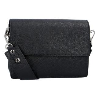 Elegantní kožená kabelka černá - ItalY Kenesis černá