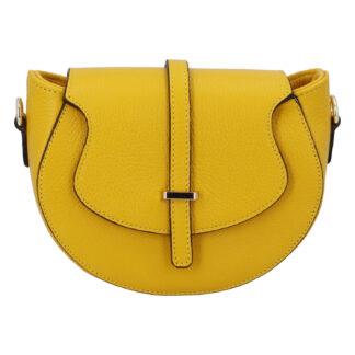 Dámská kožená crossbody kabelka žlutá - ItalY Blauke žlutá