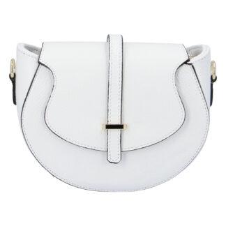 Dámská kožená crossbody kabelka bílá - ItalY Blauke bílá