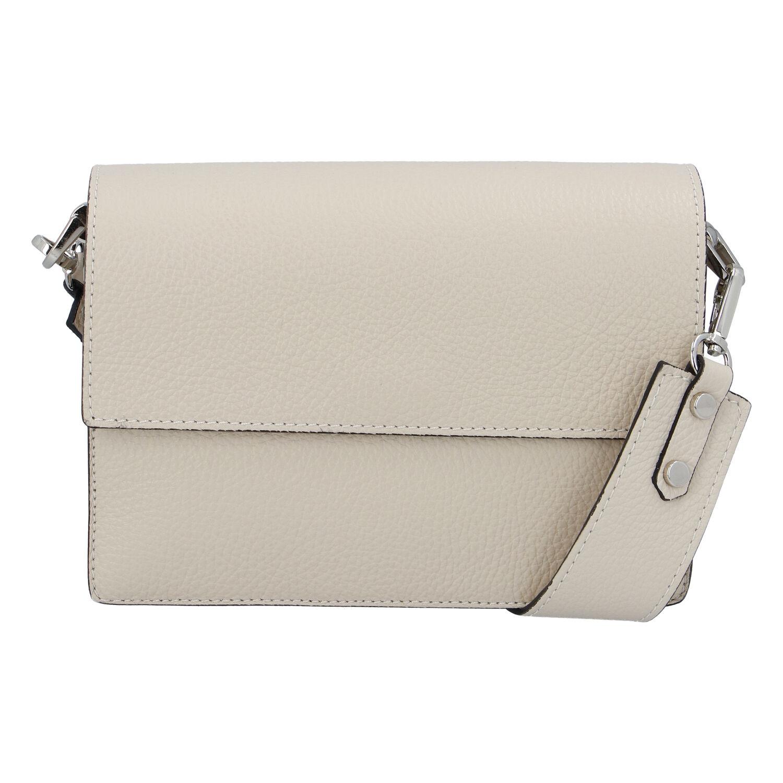 Elegantní kožená kabelka béžová - ItalY Kenesis béžová
