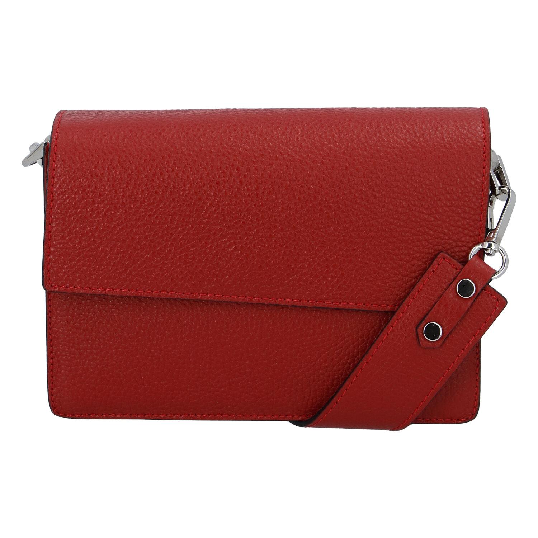 Elegantní kožená kabelka tmavě červená - ItalY Kenesis červená