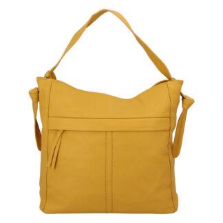 Dámská kabelka přes rameno žlutá - DIANA & CO Franzina žlutá