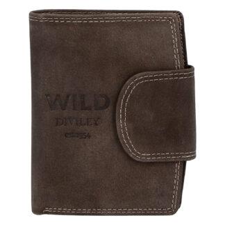 Pánská kožená peněženka tmavě hnědá - WILD Soul hnědá