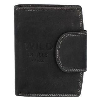 Pánská kožená peněženka černá - WILD Soul černá