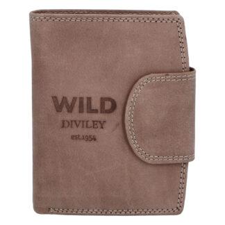 Pánská kožená peněženka taupe - WILD Soul taupe