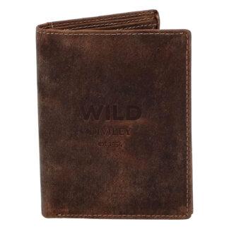 Pánská kožená peněženka hnědá - WILD Dilly hnědá