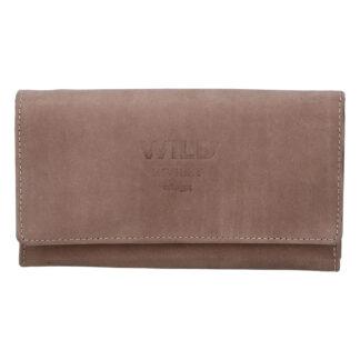 Dámská kožená peněženka taupe - WILD Riga taupe