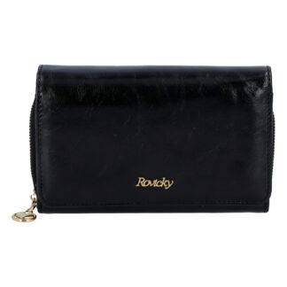 Dámská kožená peněženka černá - Rovicky 8806 černá