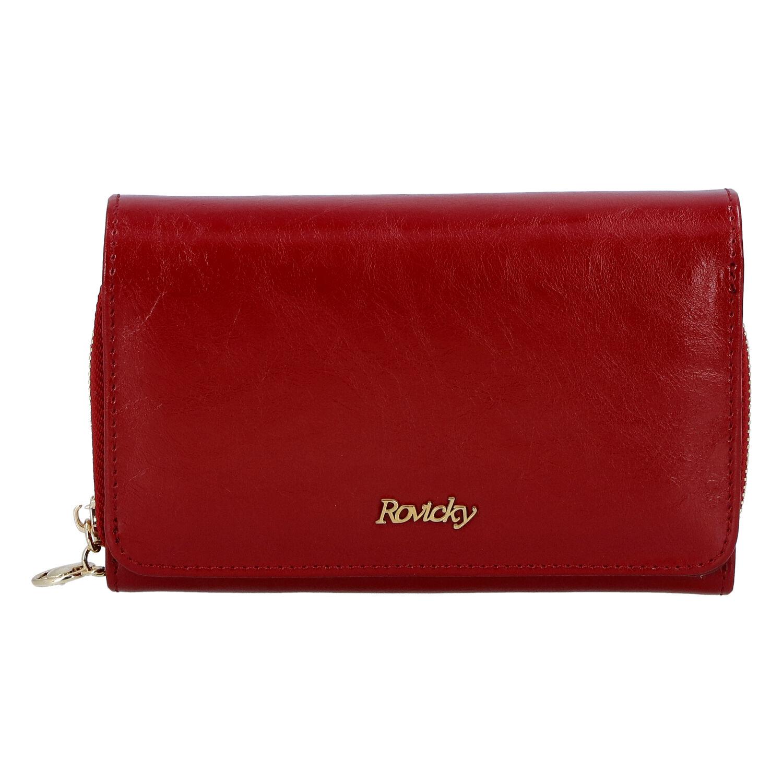 Dámská kožená peněženka červená - Rovicky 8806 červená
