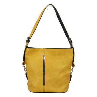Dámská kabelka přes rameno žlutá - Ellis Haarlem žlutá