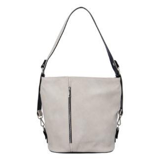 Dámská kabelka přes rameno krémově šedá - Ellis Haarlem šedá