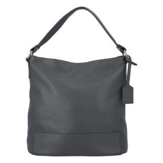 Dámská kožená kabelka přes rameno tmavě šedá - ItalY Roterry šedá
